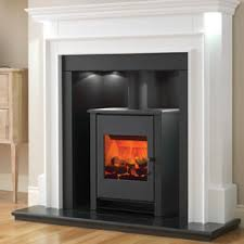 Freestanding Aubade Fireplace with electric stove was £1184. Now only £949.