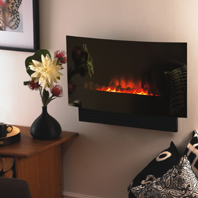Quarenta wall mounted fire, features remote control 2kw heat setting was £540 Now only £200
