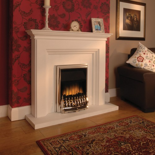 Flamerite Cassia Electric Suite with Chrome Fire (not as shown) was £625. Display model only, please phone for best price.