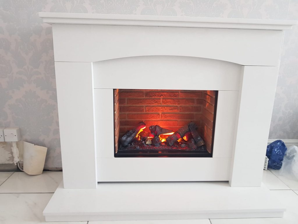 Dimplex Electric Fireplace Limestone