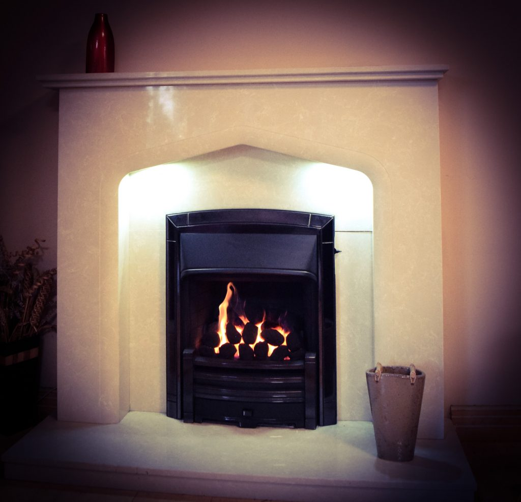 Verdena with lights NOW ONLY - £699 was £749 - Masqugrade Gas Fire Black Nickel - NOW ONLY £550