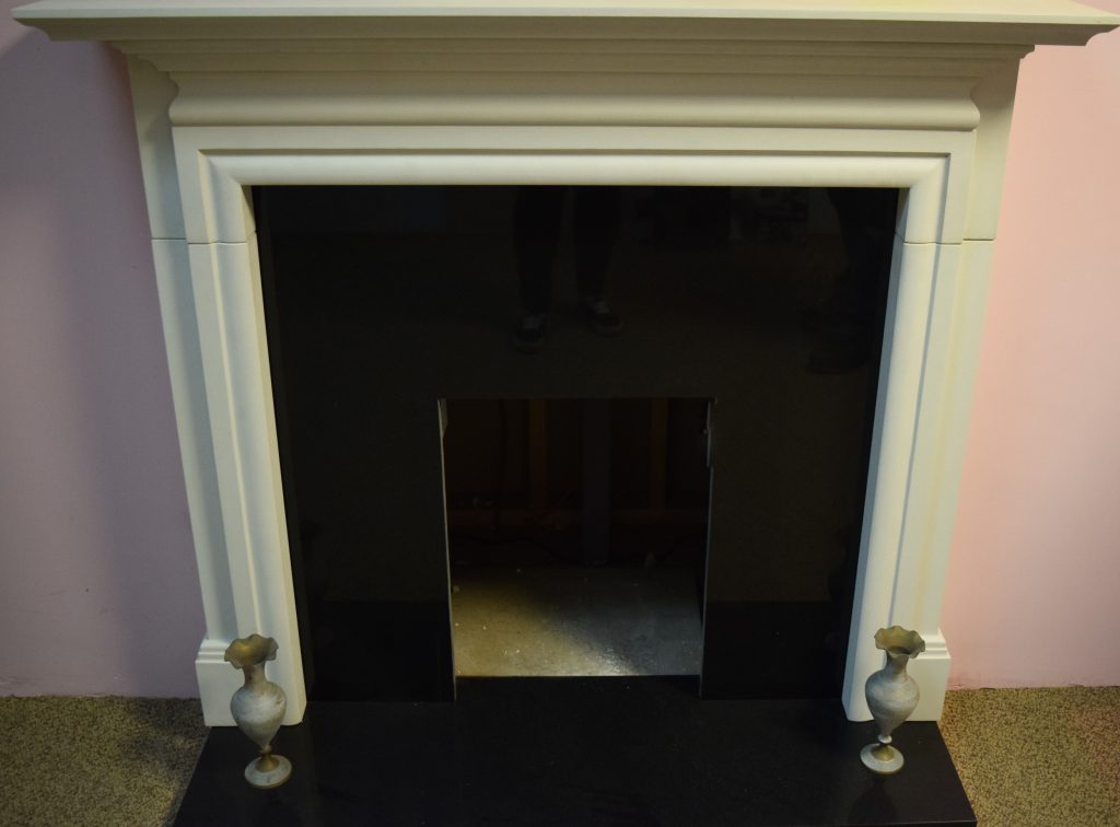 Stone Fireplace . requires small repair Only £ 125
